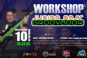 Workshop de Junior Bass Groovador no EM&T