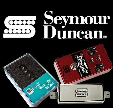 Novità Music, distribuidora oficial da marca Seymour Duncan no Brasil.