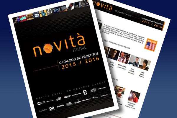 Catálogo de produtos  Novità Music 2015-2016