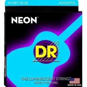 DR STRINGS NEON™ BLUE – ACOUSTIC
