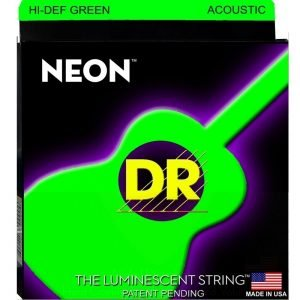 DR STRINGS NEON™ GREEN – ACOUSTIC