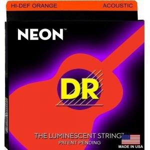 DR STRINGS NEON™ ORANGE – ACOUSTIC