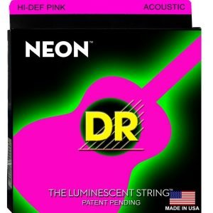 DR STRINGS NEON™ PINK – ACOUSTIC
