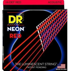 DR STRINGS NEON™ RED – ACOUSTIC