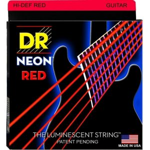 DR STRINGS NEON™ RED – GUITAR