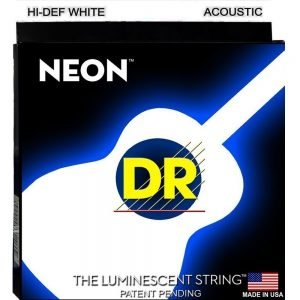 DR STRINGS NEON™ WHITE – ACOUSTIC